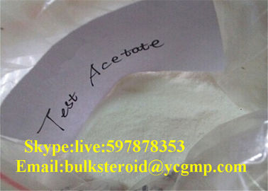 چین Anabolic Testosterone Steroids Testosterone Acetate / Test Ace Pharmaceutical Source کارخانه